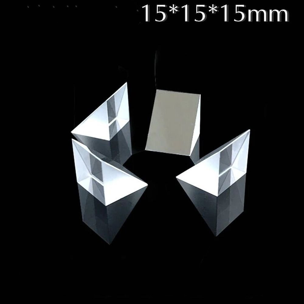 Isosceles Right Angle Prism 45 Degree 15*15*15MM Optical Glass Small Visual Inspection Diamond Mirror