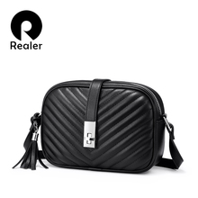 Realer women bag shoulder bags for women 2019 striped Flap c