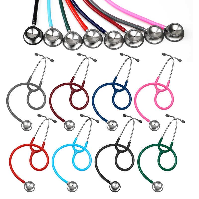 Profesional Dual Kepala Medis Dewasa Anak Bayi Bayi Spesialis Jantung Klasik II Stetoskop untuk Dokter Hewan Perawat