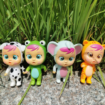 1 piece 12cm baby dolls cry baby cow chicken monkey Ladybug Frog carrot style baby action figure doll 1