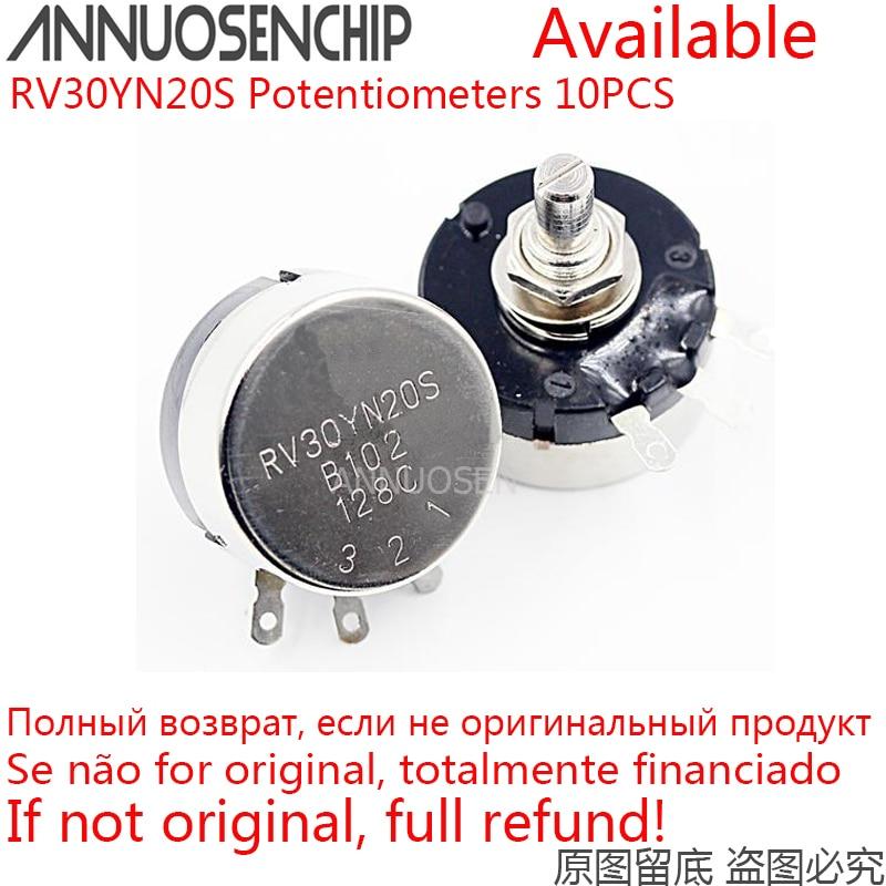 10pcs RV30YN20S B102 B202 B502 B103 B204 B503 B104 B105 10 20 5 1K K K K 100K 1M RV30YN Single Turn Rotary Potenciômetro De Carbono