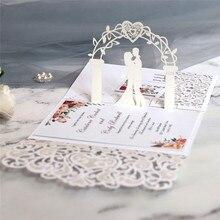 Cartes Pop UP 3D avec enveloppe, carte postale avec enveloppe, cartes dinvitation de mariage, anniversaire, 10 pièces