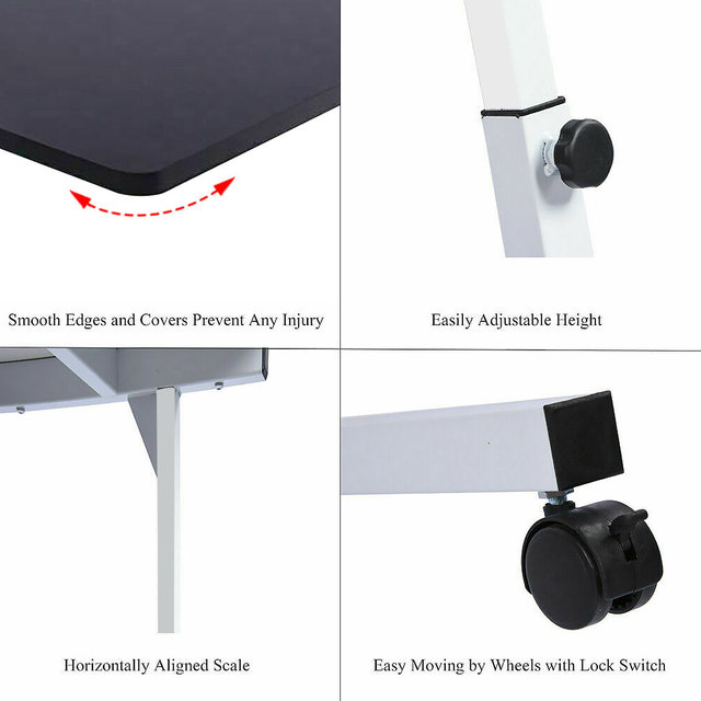 Adjustable Movable Laptop Stand Desk Portable Laptop Table Computer Desk Notebook Laptop Desk Can be Lifted Bed Side Table 3
