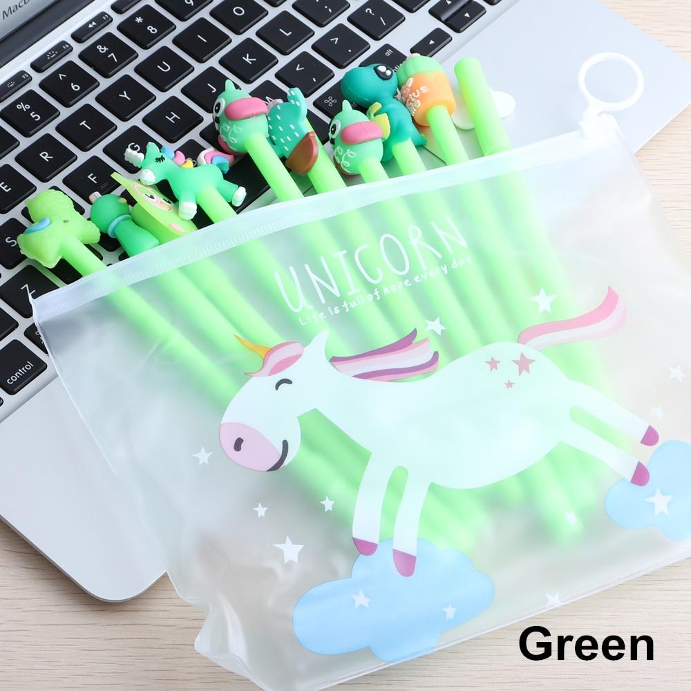 10Pcs/Set Gel Pen Unicorn Pen Stationery Kawaii School Supplies Gel Ink Pen School Stationery Office Suppliers Pen Kids Gifts 4