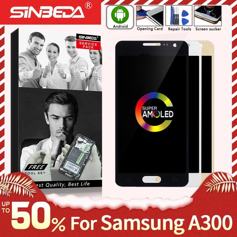 Super AMOLED для Samsung Galaxy A300, ЖК дисплей, сенсорный экран, дигитайзер для SAMSUNG A3 2015, ЖК дисплей A300H, A300F, A300|touch screen digitizer|samsung galaxy a3 displaysamsung galaxy display | АлиЭкспресс