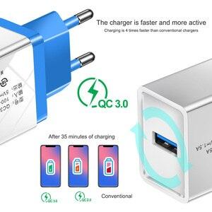 Image 2 - טעינה מהירה 3.0 USB מטען עבור iPhone 7 8X11 iPad קיר נייד טלפון מטען מהיר טעינה עבור Xiaom mi note 10 סמסונג S10 9