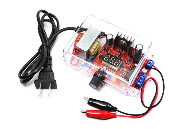 Eu 220 v diy LM317 可変電圧電源ボード学習キットとケース