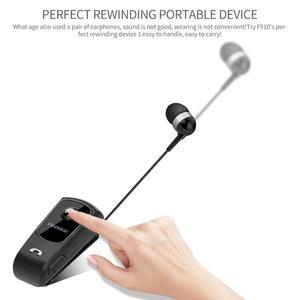 Image 3 - Fineblue F920 Draadloze Bluetooth Hals Clip Telescopische Business Oortelefoon Trilalarm Dragen Stereo Sport Headset Mic