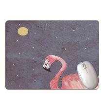 Коврик для мыши с фламинго нескользящий коврик компьютерной