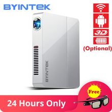 лучшая цена BYINTEK UFO R9 Smart Android WIFI Video Micro Portable DLP Mini LED 3D Projector for Full HD 1080P Home Theater Business Office