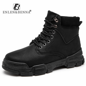2020 Men Boots Leather High To