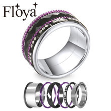 купить Fashion Titanium Ring change men and women holiday gift Stainless Steel Rings Anniversary Black Wedding Band дешево
