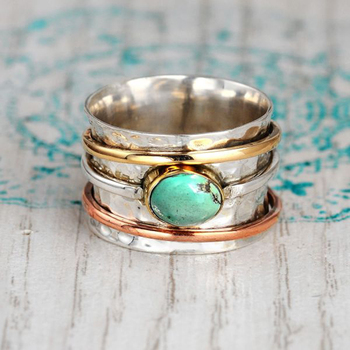 Vintage Bohemian Rings for Men Rose Gold Color Round Metal Design Finger Accessories Women Personality Entwined Ring Jewelry image