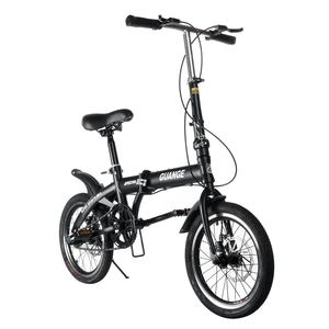 16 inch Foldable Ultra-light bicycle Variable Speed Dual Brake Folding Bicycle Non-slip Stable Road Bike for Adult Children