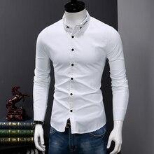 Fashion Cotton Shirt Men Long Sleeve Slim Fit Men'