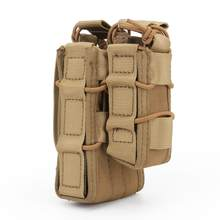 Molle System Double Magazine Pouch Tactical M4 M14 AK Rifle Hunting Accessories Paintball Airsoft Pouch Military Magazine(China)