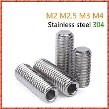 500 шт/лот din913 безголовая сталь Шестигранная розетка с плоским