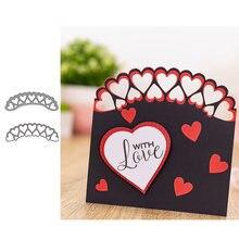 Металлические Вырубные штампы jc с сердечками для скрапбукинга