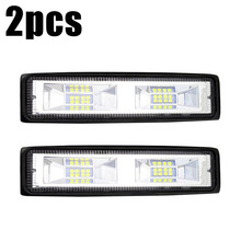 2pcs new 6Inch 48W 16LED Work Lights Flood Beam Bar Car SUV Off-Road Driving Fog Lamp 6000K 4800LM DC9-32V IP68