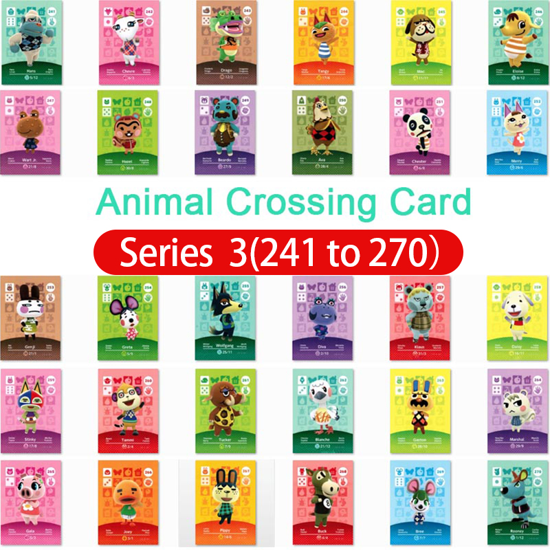 Animal Crossing Amiibo Card Amiibo Card Animal Crossing Series 3 Nfc Card 241 To 270 Work For Ns Games Fast Shipping