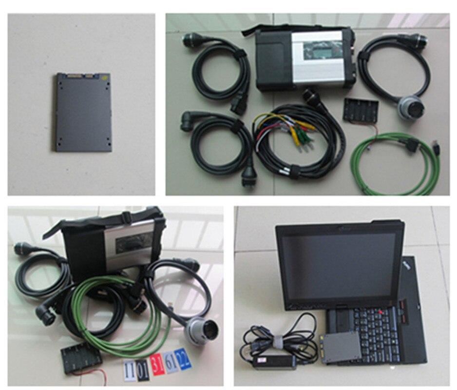 V12/2019 MB Star C5 Sd Multiplexer C5 With X200T 360GB SSD X/Vediam/DAS/DTS/EPC/HHT For Auto Diagnostic Tool Mercdes Star C5