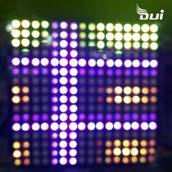 DUI WS2812B 16*16 pixel screen DC5V full color soft screen can be written effect full color pixel screen