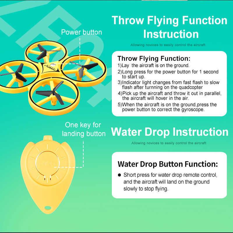 חדש Rc מסוק UFO מיני מחווה מטוסי אינדוקציה Drone חכם שעון חישה מרחוק LED תאורה rc Quadcopter rc צעצועי מתנה