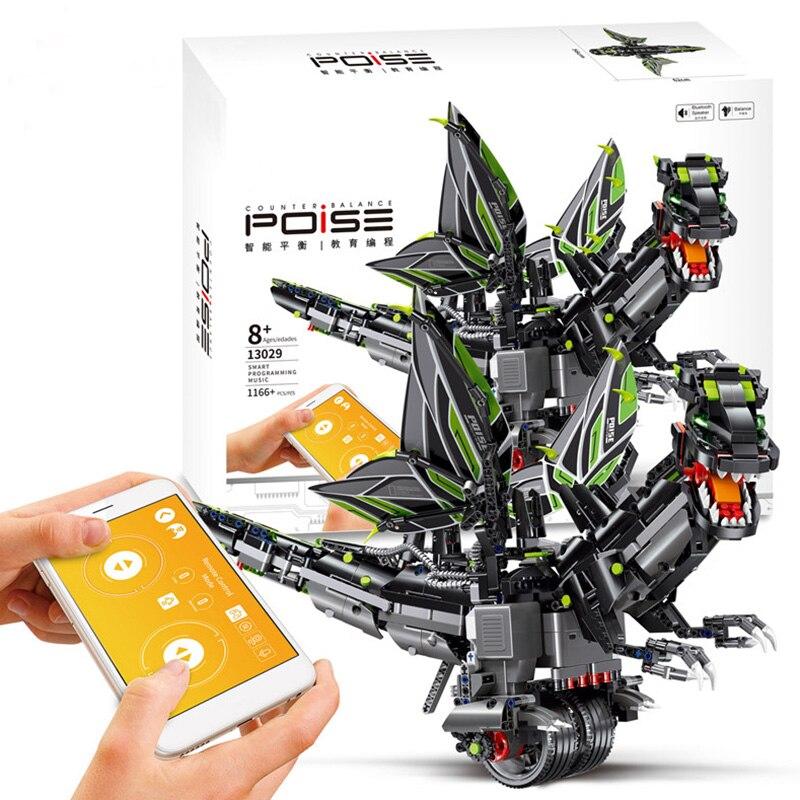Moule roi 13029 2.4G RC Robot APP télécommande programmation intelligente multi-fonction Robot blocs de construction dinosaure jouet cadeau