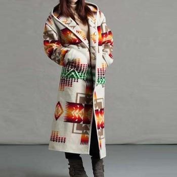 Womens Fashion Hooded Coats 2020 Autumn Winter Warm Long sleeve Faux Open Front Retro Warm Jackets  Women Girls Oversize#4 7