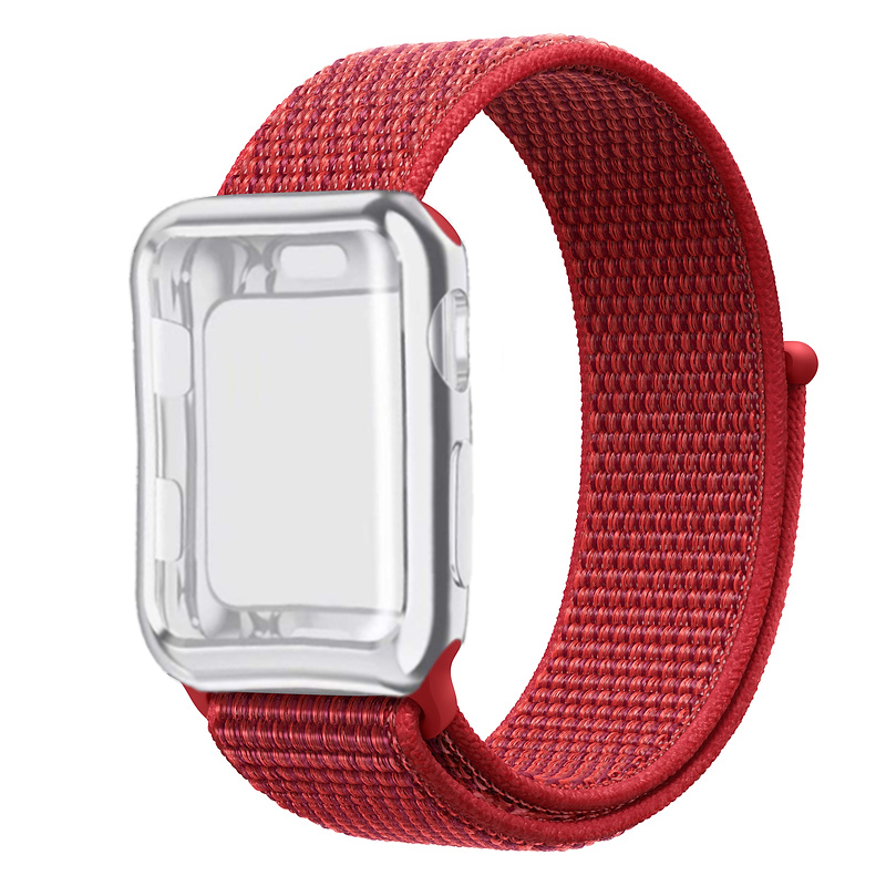 Sport loop case Strap for Apple watch band 42mm 38mm nylon correa iwatch 44mm 40mm series 3 2 1 for Apple watch 4 accessories in Watchbands from Watches