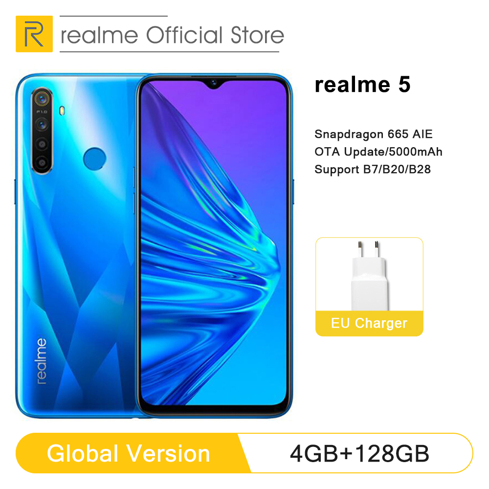 Global Version Realme 5 4GB RAM 128GB ROM 6.5