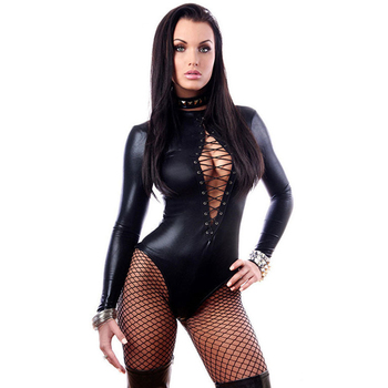 Plus-size Porn Sex Underwear Women Erotic Lingerie Sexy Leather Latex Baby Doll Hot Pole Dance Club Costumes - discount item  40% OFF Exotic Apparel