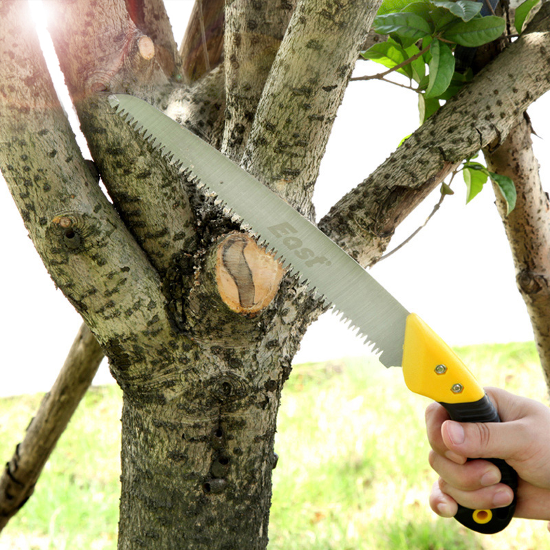 East 65Mn Portable Home Manual Fruit Tree Wood Pruning Saw Three-sided Grinding Garden Logging Saw with Rubber Handle
