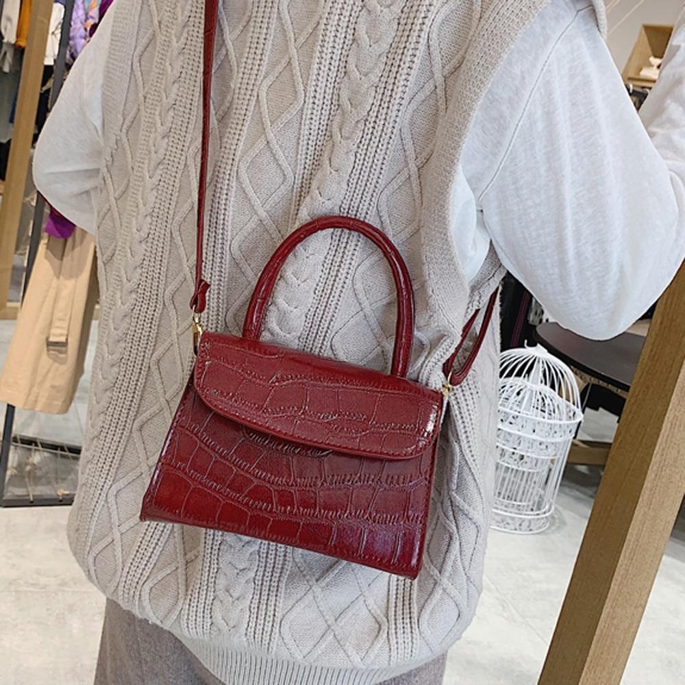 Women's Designer Luxury Handbag 2020 New High Quality Pu Leather Women Handbags Crocodile Pattern Shoulder Messenger Bag#G30