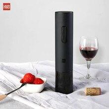 Xiaomi Mijia Huohou التلقائي الأحمر زجاجة النبيذ فتاحة الكهربائية المفتاح احباط القاطع الفلين خارج أداة 6 ثانية مفتوحة 550 مللي أمبير البطارية
