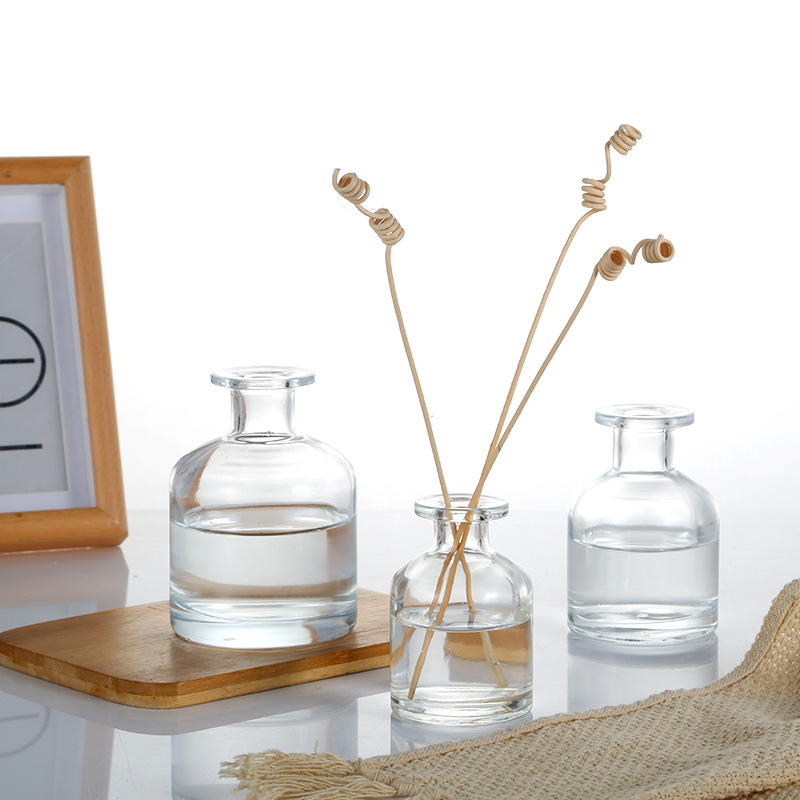 Confident 5pcs 50ml Transparent Aromatherapy Glass Bottle Reed Diffuser Bottle Scent Volatilization Glass Container For Home Decoration