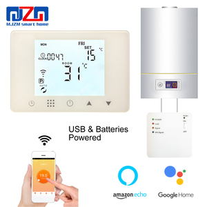 MJZM BGL09RF-WiFi & RF Wireless Thermostat Wall-hung Gas Boiler Heating Remote Control Temperature Controller Batteries Powered(China)