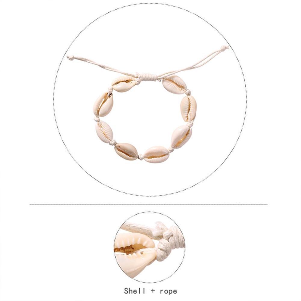 Stylish Bracelet Women Boho Girl Romantic Bileklik Pulseira Bracelets Shell Chain Lady Jewelry Pulseras Couple Bracelet L0512 in Chain Necklaces from Jewelry Accessories