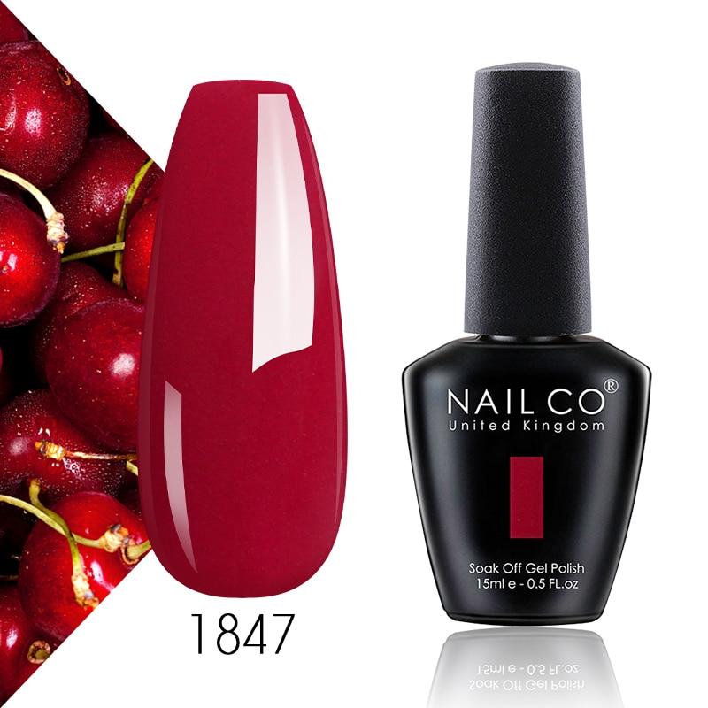 Гель-лак NAILCO для ногтей, лак для УФ-лампы, нюдовые, красные, розовые, 15 мл