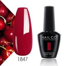 Гель лак nailco для ногтей УФ лампы нюдовые красные розовые