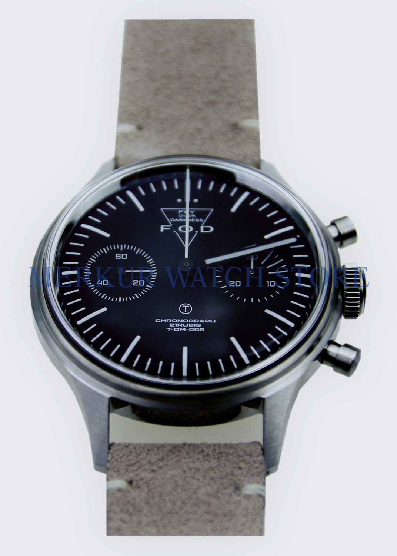 MERKUR FOD Fliger 파일럿 기계식 크로노 그래프 남성용 시계 B 형 항공 시계