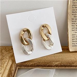 AOMU-1Pair-Women-Fashion-Metal-Hit-Color-Earrings-Gold-Silver-Chain-Tassel-Dangle-Earrings-for-Girls