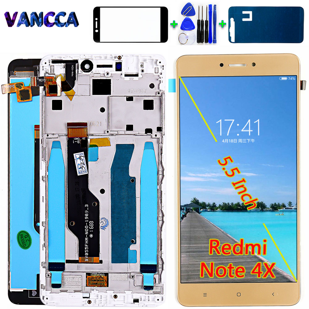 AAA Quality 5.5 Inch LCD Display For Xiaomi Redmi Note 4X ( Snapdragon 625 ) Digitizer Touch Screen Assembly Note 4 Global Frame