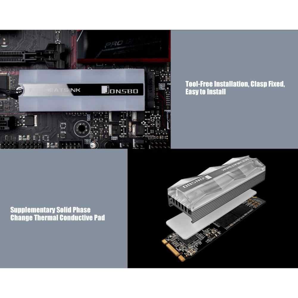 Jonsbo M.2 disipador de calor M.2 2280 disipador térmico para SSD de luz de estado sólido Disco Duro ventilador de enfriamiento FAN Pin calor disipación térmica