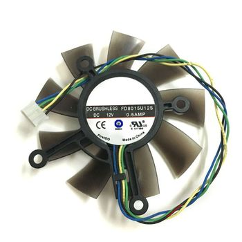 75MM FD8015U12S DC12V 0.5AMP 4PIN Cooler Fan For GTX 560 GTX550Ti HD7850 Graphics Video Card Cooling Fans B2EA image