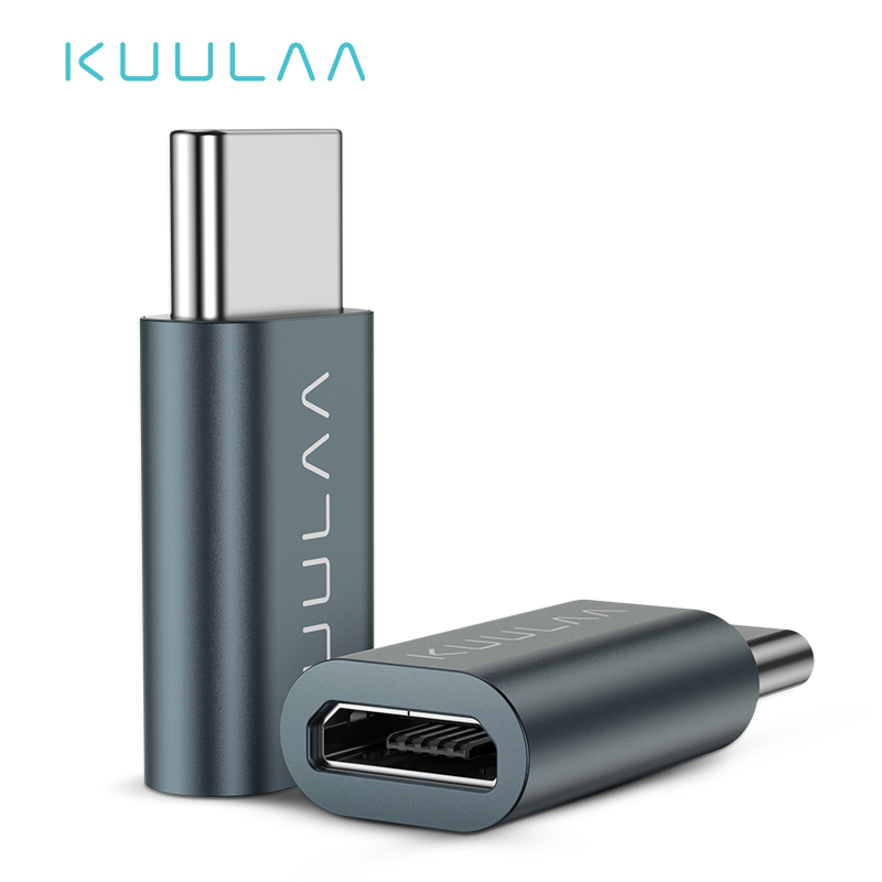 KUULAA USB C OTG Adapter Type C To Micro USB Charger Cable Converter For Macbook Pro Samsung Galaxy S10 S9 Huawei Type-C USB OTG