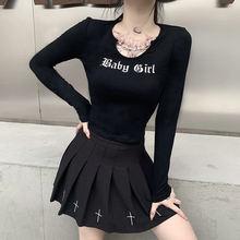 Helisopus черная женская футболка с длинным рукавом круглым