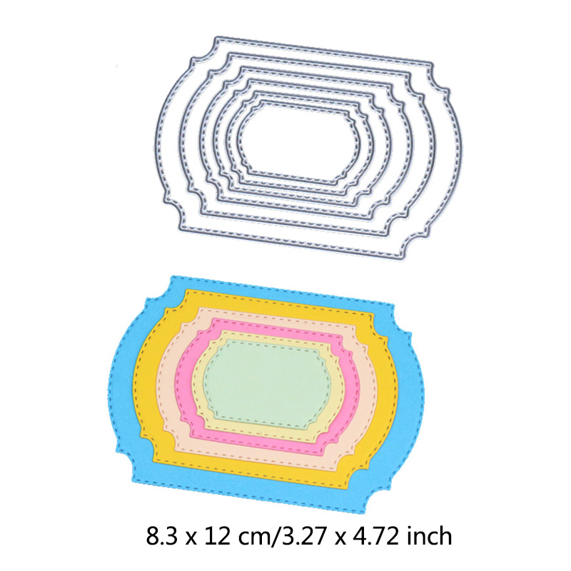 Cutting Dies Metal Basic Round Square Heart Lace Frame Series Borders Words