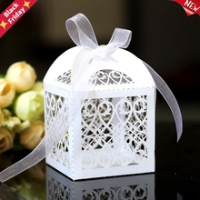 Candy-Boxes Laser-Cut Favor Gift Wedding-Party-Favor-Decoration Hollow-Carriage Custom