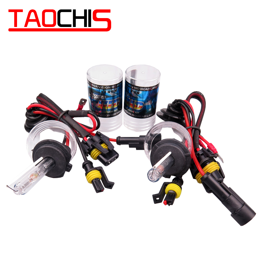 Taochis 12V 55W Car HID <font><b>Xenon</b></font> <font><b>Lamp</b></font> <font><b>H1</b></font> H3 H7 H8 H9 H11 9005 9006 880 881 Replacement Bulbs Car Head light fog light 6000k 5000k image